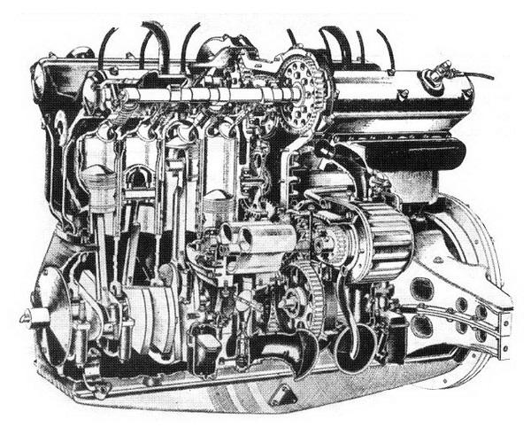 Metszetrajz a motor felépítéséről